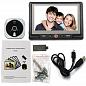 Видеоглазок в дверь с записью на SD карту, звонком и датчиком движения PST 4,3DM Grey